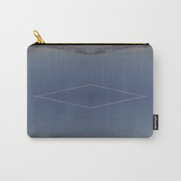 Wide Diamond Periwinkle Carry-All Pouch