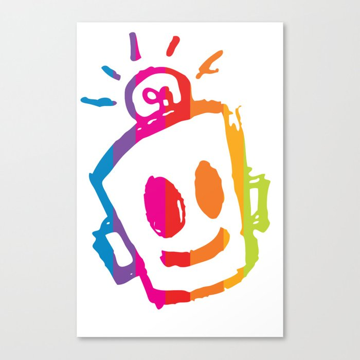 ROBOT stripes Canvas Print
