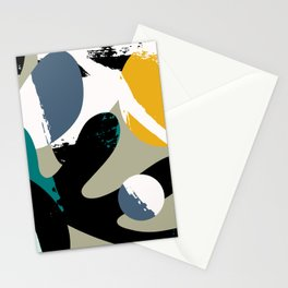 Mid-Century Abstract Stationery Cards