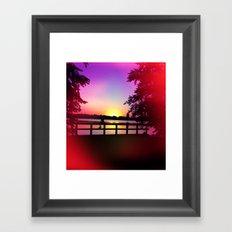 Warm Summer Nights at Dusk Framed Art Print