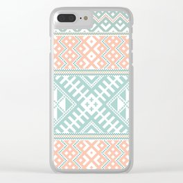Tatar folk pattern Clear iPhone Case