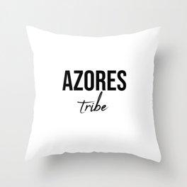 Azores tribe Throw Pillow