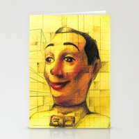 pee wee Stationery Cards featuring Pee Wee Herman Figurine ilustration by JUANK