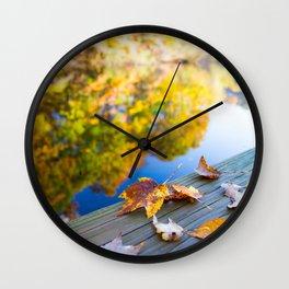 Gently Fallen Wall Clock