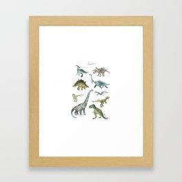Dinosaurs Series Framed Art Print