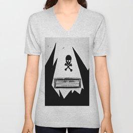 Skull Mail Unisex V-Neck