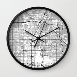 Las Vegas Map White Wall Clock