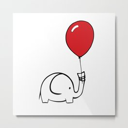 Ellie Balloon Metal Print
