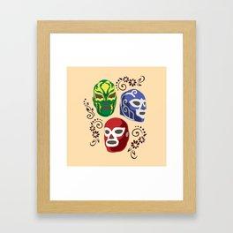 Máscaras Framed Art Print