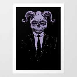Black Bussiness Art Print