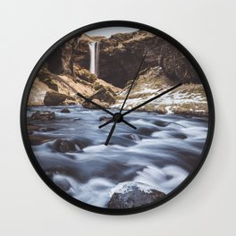 Secret waterfall - Landscape and Nature Photography Wall Clock