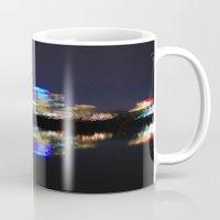 washington dc Mugs featuring Washington DC Skyline by adamsk8
