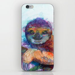 Sloth Mixed Media on Yupo iPhone Skin