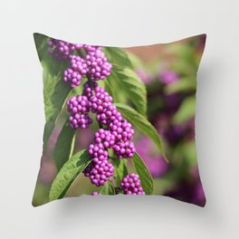 Purple Polka Dot Candy Throw Pillow