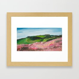North Yorkshire, Hill and Heather Framed Art Print