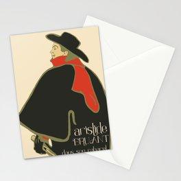 Bruant in his cabaret retro vintage Stationery Cards