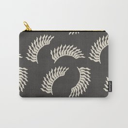 When the leaves become wings - Gray and beige Carry-All Pouch