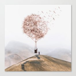 Flying Dandelion Canvas Print