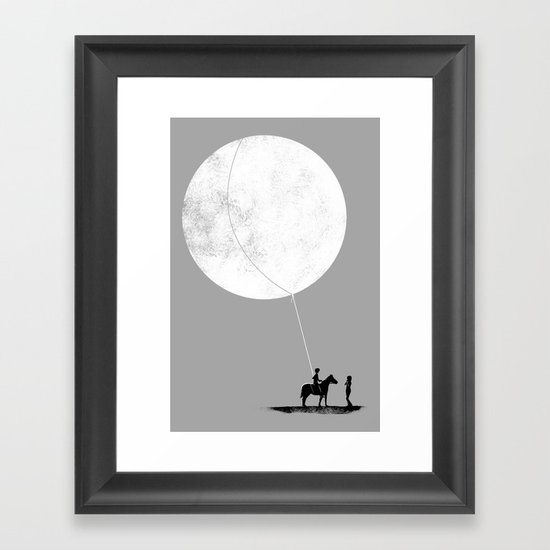 do you want the moon? Framed Art Print