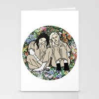 oitnb Stationery Cards featuring OITNB Floral by MODERN UNDERGROUND