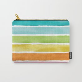 Watercolor Rainbow Stripes Carry-All Pouch