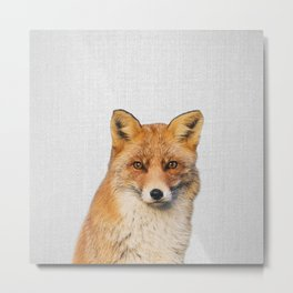 Fox - Colorful Metal Print