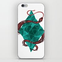 crystal iPhone & iPod Skins featuring Mystic Crystal by Hector Mansilla
