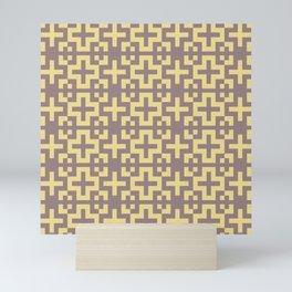 Minimalist Scandinavian Cross Nordic Yellow Mini Art Print