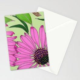 Echinacea on Pistachio Stationery Cards