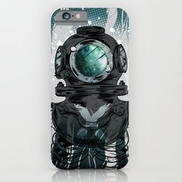 Deep Space Diver iPhone Case