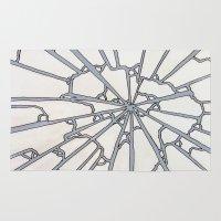 broken Area & Throw Rugs featuring Broken by Ericaphant
