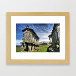 Lindoso granaries and the castle Framed Art Print