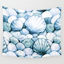 Sea Shells Teal Wall Tapestry