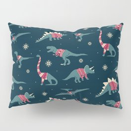 Dinos In Sweaters Pillow Sham
