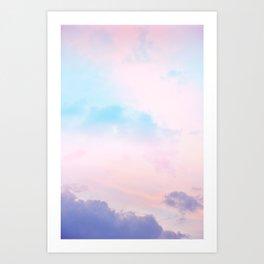 Unicorn Pastel Clouds #5 #decor #art #society6 Art Print