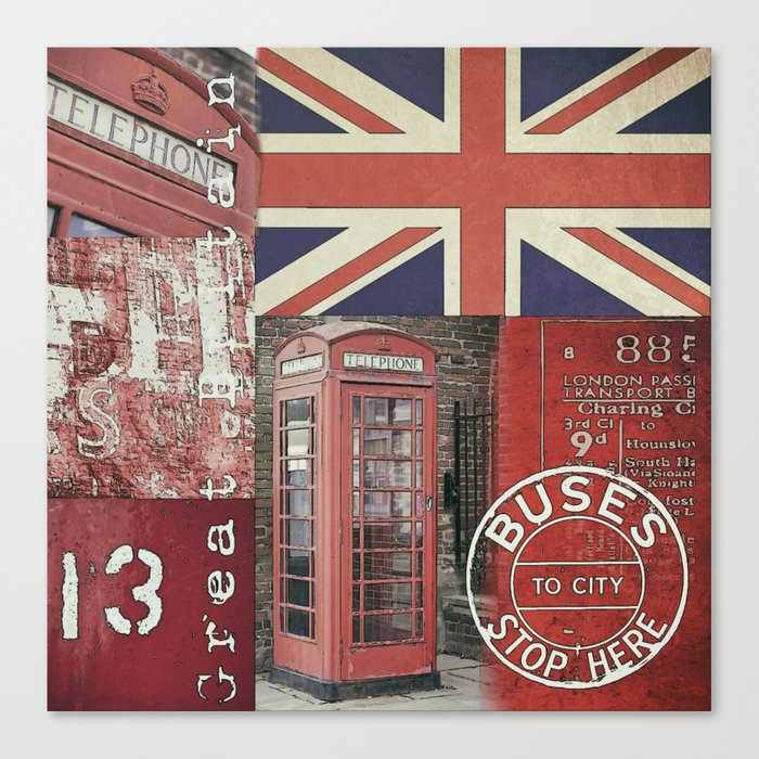 Great Britain London Union Jack England Canvas Print