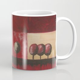 Be Yourself red tree oil painting Coffee Mug