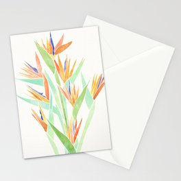 Birds of Paradise ~ tropical bouquet Stationery Cards