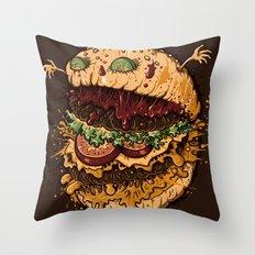 Monster Burger Throw Pillow