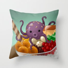 Halo Haloctopus Throw Pillow
