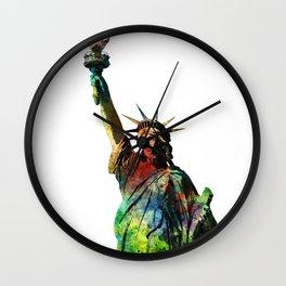 NEW YORK SKYLINE, Statue of Liberty 1, USA Wall Clock