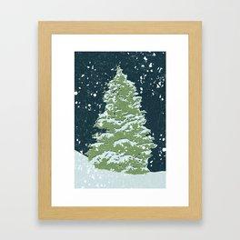Tree by Night Framed Art Print