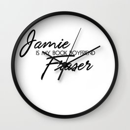 Jamie Fraser Book Boyfriend Wall Clock