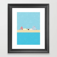 stars and the sea Framed Art Print