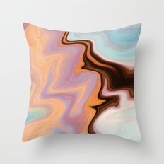 Saturn Marble Throw Pillow