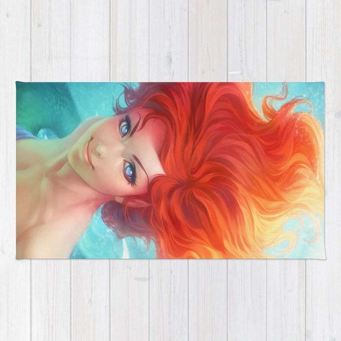 under the sea rug by artgerm society6. Black Bedroom Furniture Sets. Home Design Ideas