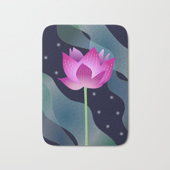 Star Lotus Bath Mat