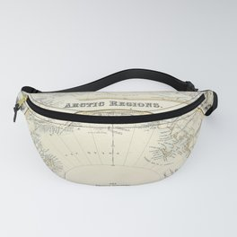 Map Of The Arctic 1856 Fanny Pack