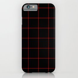 Graph Paper (Red & Black Pattern) iPhone Case