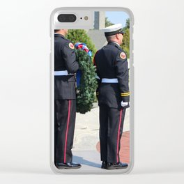 9 11 Memorial Service Clear iPhone Case
